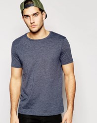 Asos T Shirt With Crew Neck Navy Marl Black