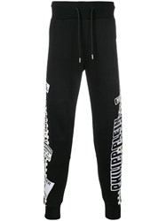 Philipp Plein Caution Stripe Track Pants Black