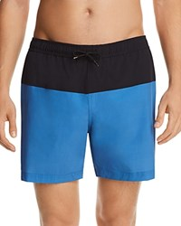 Theory Cosmos Color Block Stretch Swim Trunks Eclipse Lagoon
