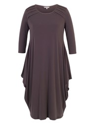 Chesca Jersey Drape Dress With Tuck Detailing Purple
