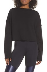 Alala Stance Crop Sweatshirt Black