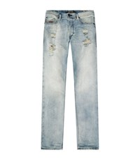 Diesel Distressed Skinny Jeans Male Blue