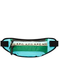 A.P.C. Repeat Logo Waist Bag Green