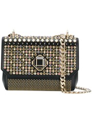Elie Saab Swarovski Crystal Embellished Shoulder Bag Black