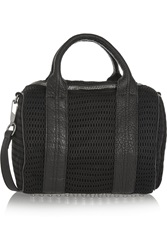 Alexander Wang Rockie Leather Trimmed Mesh Tote Black