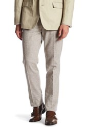 Bonobos Foundation White And Blue Striped Trim Fit Double Pleated Trouser Multi