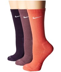 Nike Dri Fit Cushion Crew 3 Pair Pack Multicolor 5 Women's Crew Cut Socks Shoes