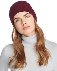 Bloomingdale's C By Elevated Ribbed Cashmere Cuff Hat 100 Exclusive Burgundy