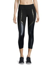 Vimmia Chance Coated Panel Capri Performance Leggings Navy