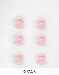 New Look Rose Bud Swirls Hair Clips Pink