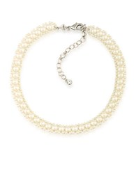 Carolee 5 3Mm Round White Pearl Choker Necklace