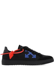 Off White 2.0 Leather And Suede Sneakers Black