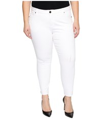 Kut From The Kloth Plus Size Reese Ankle Straight Leg In Optic White Optic White Women's Jeans