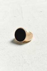 Urban Outfitters Round Onyx Ring Gold