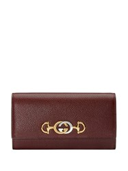Gucci Zumi Continental Wallet Red