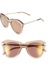 Karen Walker Women's One Star 50Mm Retro Sunglasses Crystal Brown Gold Crystal Brown Gold