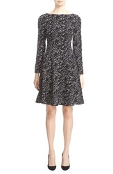 Lela Rose Women's 'Minnow' Print Fit And Flare Dress