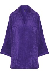 Lisa Marie Fernandez Boyfriend Cotton Terry Beach Tunic Purple