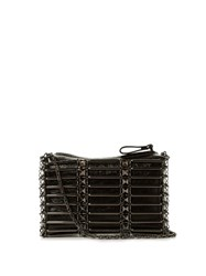 Valentino Rockstud Caged Leather Cross Body Bag Black