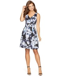 American Living Floral Print Pleated Dress