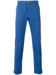 Pence Military Trousers Men Cotton Spandex Elastane 54 Blue