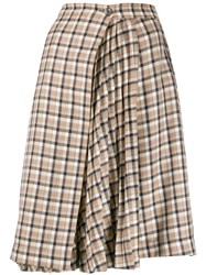 Paco Rabanne Checked Pleated Panel Skirt 60