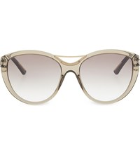Roland Mouret Jones Tortoiseshell Cateye Aviator Sunglasses Trans Grey