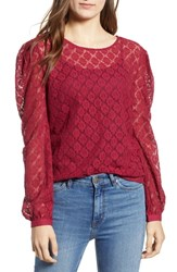 Hinge Lace Top Red Rumba