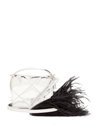 Marques Almeida Feather Embellished Quilted Cross Body Bag Black Silver