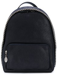Stella Mccartney Small Falabella Backpack Women Polyester One Size Blue