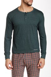 Bottoms Out Basic Henley Tee Green