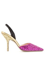 Attico Diletta Tri Colour Glitter Pumps Multi