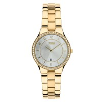 Storm Slim X Crystal Gold Watch Gold