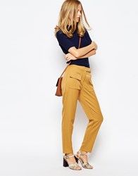 The Laden Showroom X Even Vintage High Waisted Crop Trouser With Flap Pocket Mustard