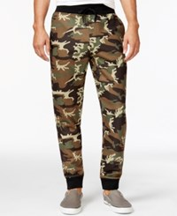 Ring Of Fire Printed Jogger Pants Green Camo