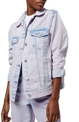 Women's Topshop Oversize Acid Wash Denim Jacket