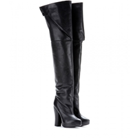 Carven Leather Over The Knee Boots Black