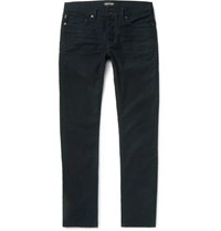 Tom Ford Slim Fit Stretch Cotton Moleskin Trousers Navy
