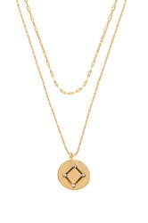 Five And Two Orion Libra Necklace Metallic Gold