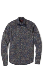 Scotch And Soda Washed Shirt With Bow Tie