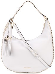 Michael Michael Kors Hobo Shoulder Bag Women Cotton Leather One Size White