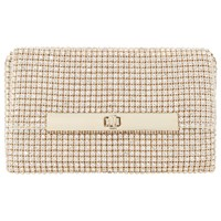 Dune Enya Diamante Turn Lock Clutch Bag Gold