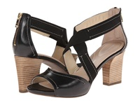 Rockport Seven To 7 75Mm Cross Strap Sandal Black Burn Calf High Heels