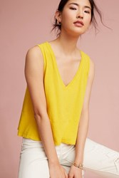 Anthropologie Petite Caprice Top Yellow