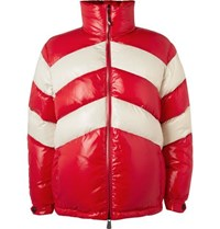 Moncler Golzern Colour Block Quilted Down Ski Jacket Red