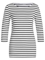 Oui Stripe T Shirt White Black