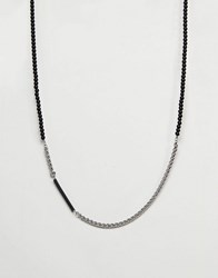 Vitaly Helix Necklace In Stainless Steel Stainless Steel Silver