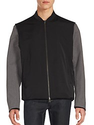 Vince Highline Zip Front Jacket Black Grey