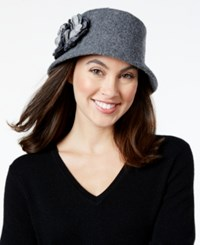 Nine West Knit Microbrim Hat Heather Grey