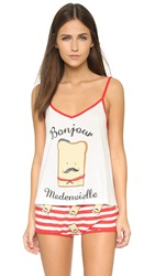 Minkpink French Toastie Cami White Red